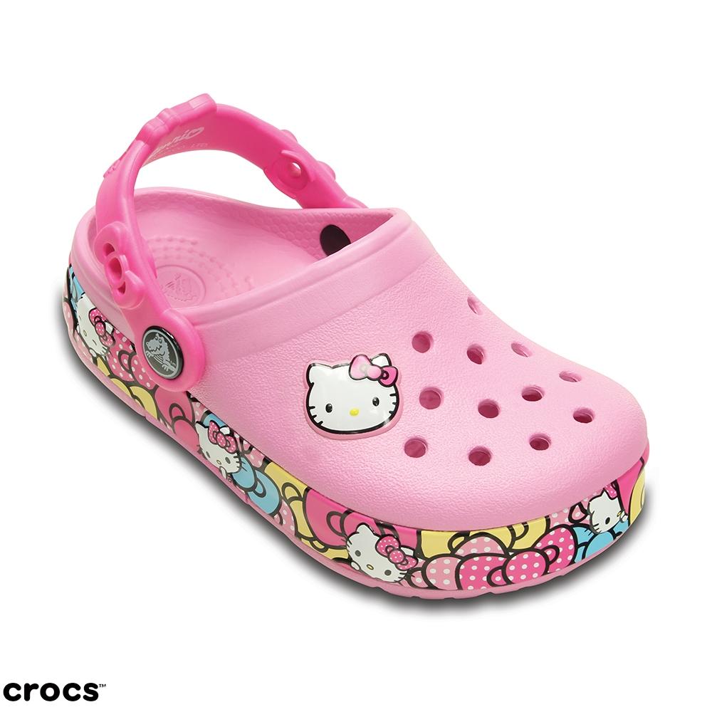Crocs卡駱馳童酷閃Hello Kitty-201262-6I2