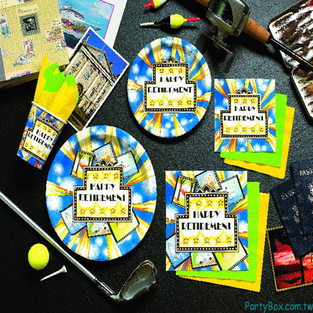 派對盒 PartyBox 生日派對懶人包 歡慶退休主題 8人基本派對盒