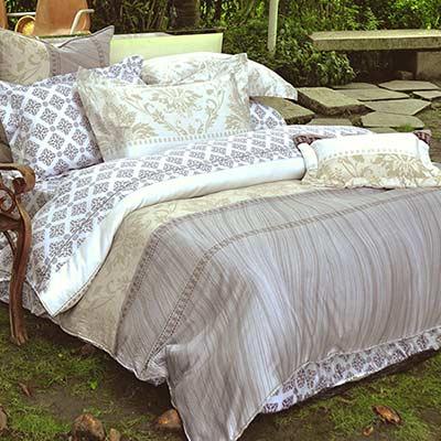 義大利La Belle《絢爛之歌》雙人四件式貢緞被套床包組