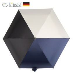 德國kobold酷波德 抗UV潮F撞色系列 超輕巧防曬三折傘-深藍