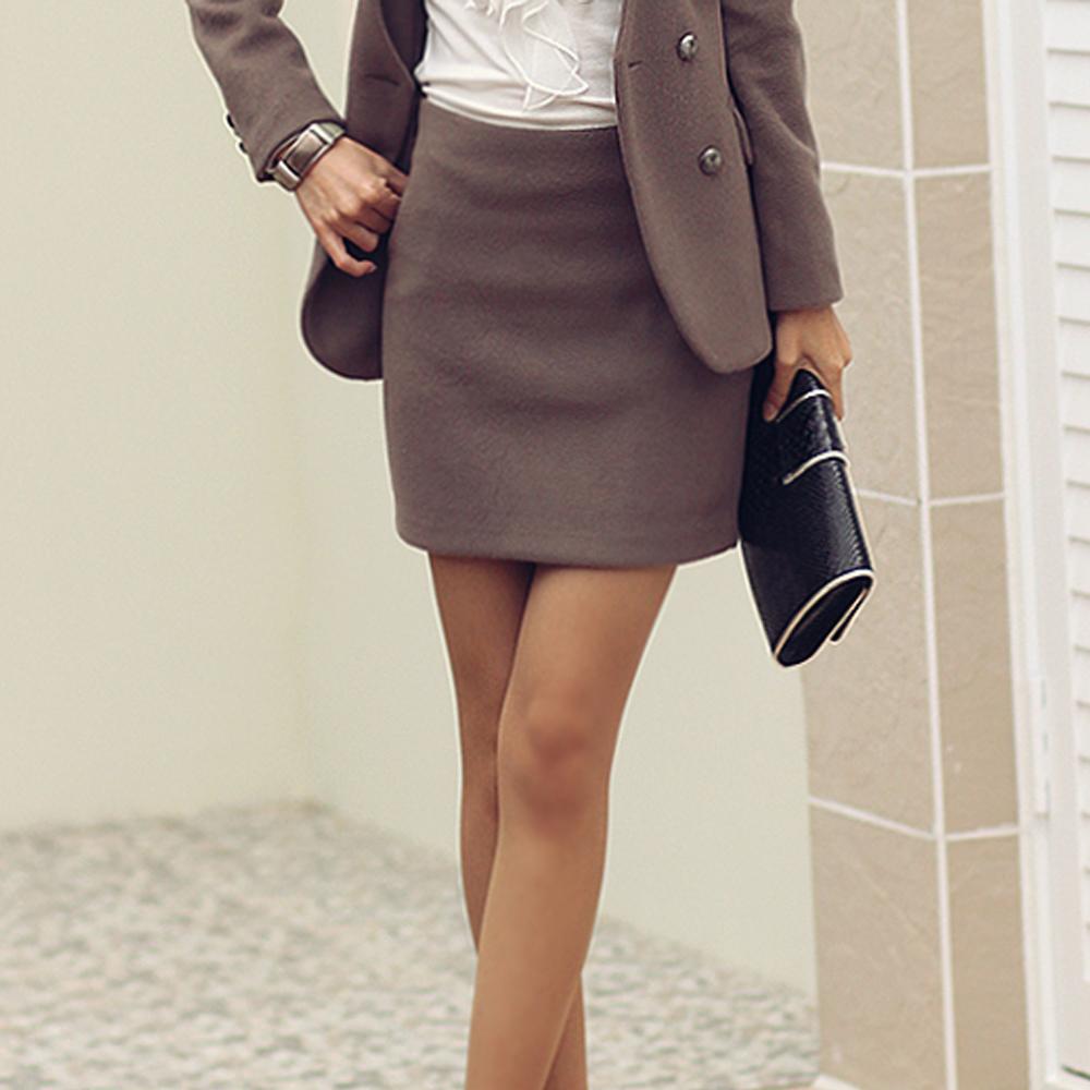 【N.C21】多彩亮色保暖毛料短裙 (共六色)