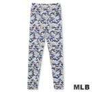 MLB-紐約洋基隊迷彩印花內搭褲-淺紫(女)