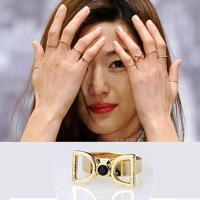 Aimee Toff 韓國來自星星的你千頌伊領結造型戒指