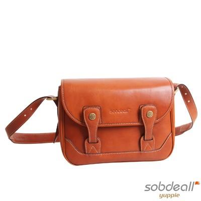 SOBDEALL-沙伯迪澳-植鞣牛皮類單眼休閒包-焦糖色