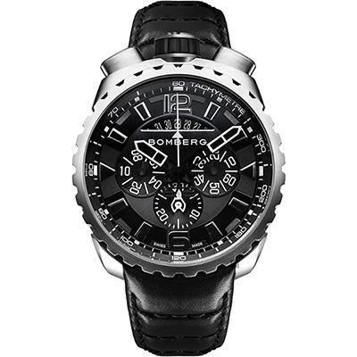 BOMBERG 炸彈錶 BOLT-68 無限黑洞計時手錶-/45mm