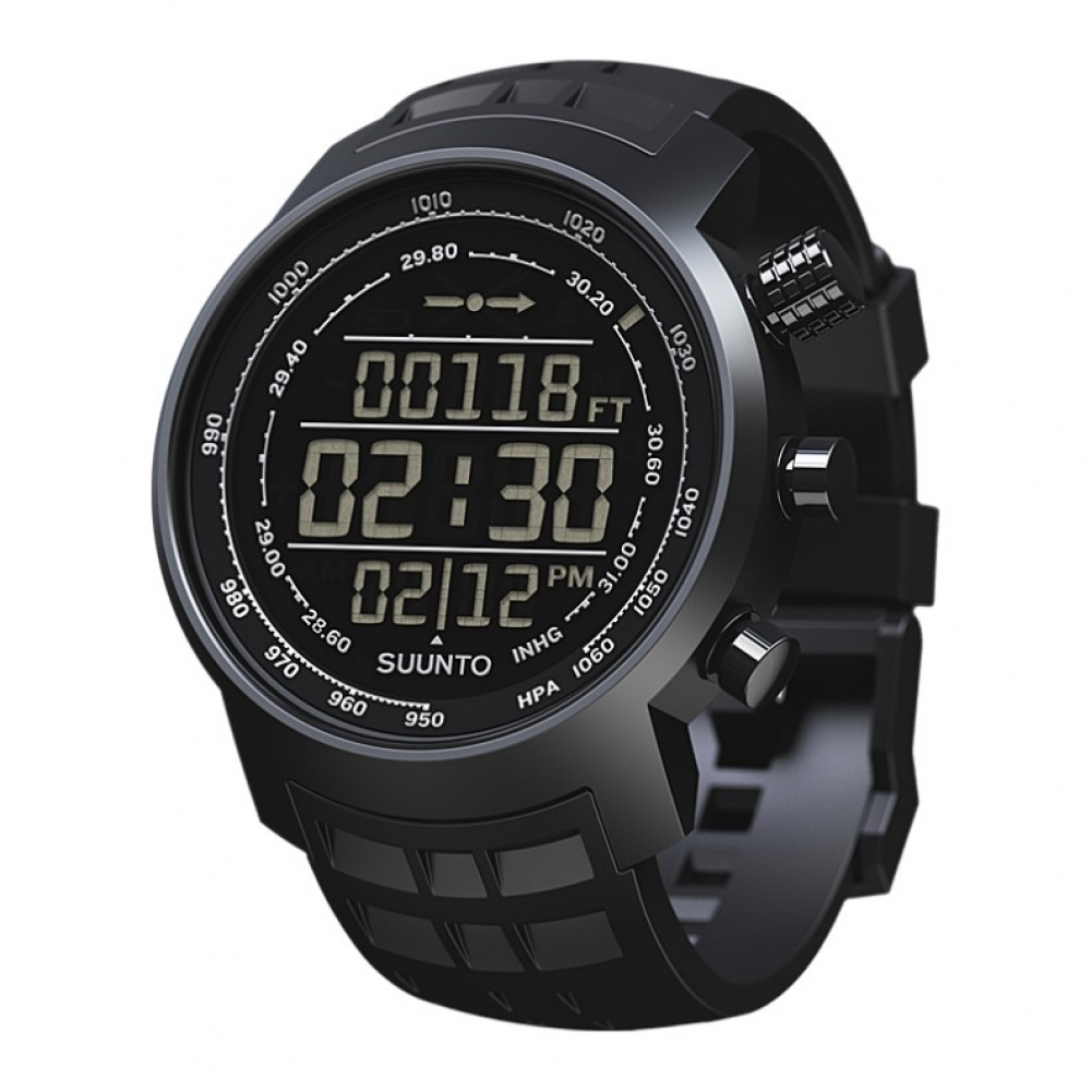 SUUNTO Elementum Terra All Black 攀山系列 橡膠錶帶