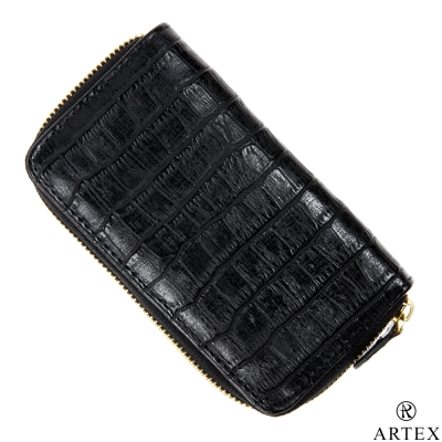 ARTEX 妝筆包 鱷魚皮壓紋 黑色