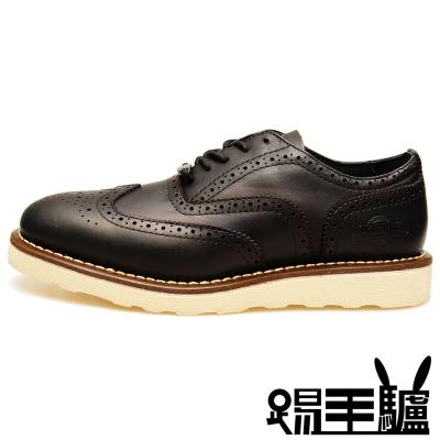 NORTHWEST英倫牛津真皮布洛克商務休閒鞋TM-7404 (黑)