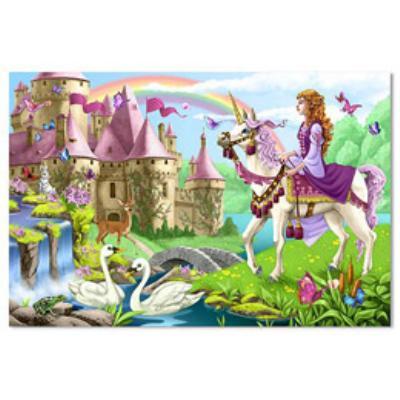 美國 Melissa & Doug 大型地板拼圖 - 童話城堡【48 片】