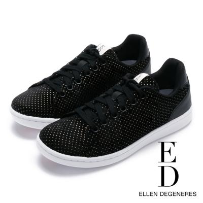 ED Ellen DeGeneres 拼接百搭綁帶休閒鞋-黑色