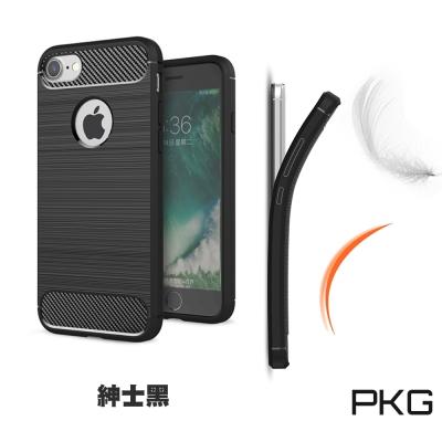 PKG  APPLE IPhone8 PLUS 抗震防摔手機殼-碳纖維紋系列