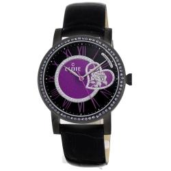 CLOIE 擁入心懷晶鑽腕錶-黑X紫/40mm