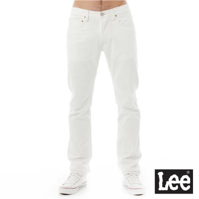 Lee 牛仔褲 726中腰標準小直筒牛仔褲/RG-男款-白