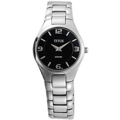 【TITUS】爵士風采超薄時尚腕錶(黑/ 27 mm)