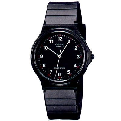 CASIO 超輕薄感數字錶(MQ-24-1B)-黑面白字