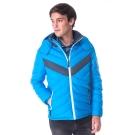 【hilltop山頂鳥】男款超撥水保暖蓄熱羽絨短大衣F22MU6藍