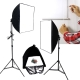 50+70CM新型兩用柔光無影罩個人攝影棚燈