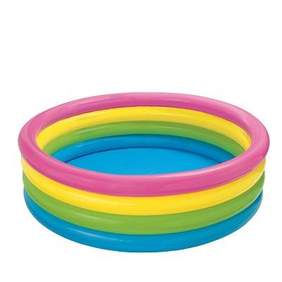 INTEX-亮麗四色充氣泳池