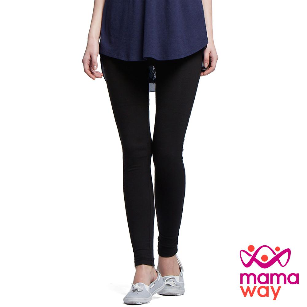 孕婦褲 貼腿褲 內搭褲 超彈力全長貼腿孕婦褲 Mamaway