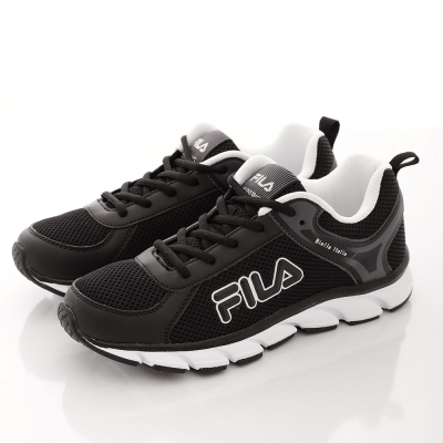 FILA 男款 Biella  Ltalia 走路 慢跑鞋~黑白