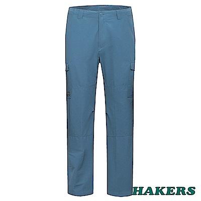 【HAKERS】男-休閒長褲-灰藍