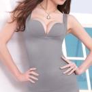 顏Audrey-魔塑美體 輕塑型背心(典雅灰)