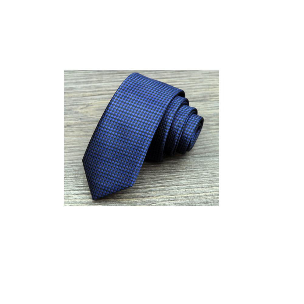 拉福 領帶窄版領帶5.5cm防水領帶拉鍊領帶(藍千鳥)