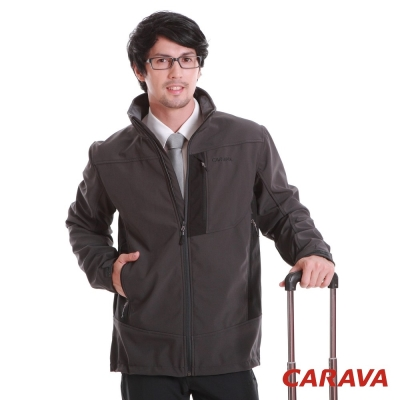 CARAVA 《軟殼防水禦寒外套》深灰