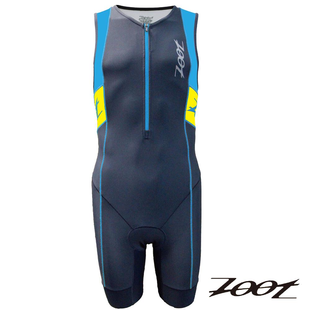 ZOOT專業級肌能連身鐵人衣(男)Z1506032(雅灰極光藍黃)