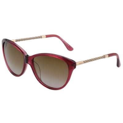TOD'S 時尚貓眼 編織腳 太陽眼鏡 (紫紅色)TO9082