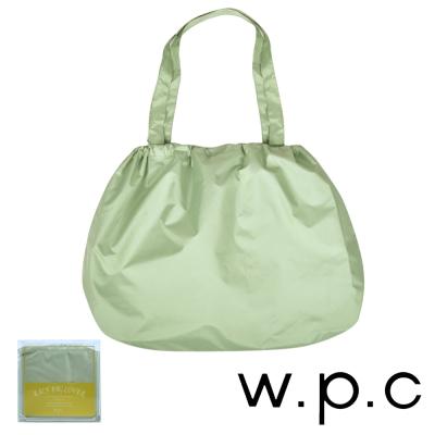 w.p.c 時尚包包的雨衣 束口防雨袋 (淺綠素面)