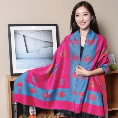 Seoul-Show-藏傳花間-仿羊絨圍巾披肩-湖
