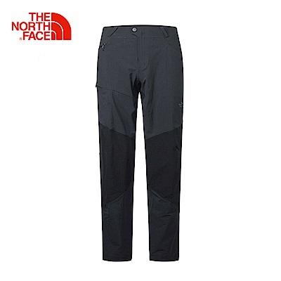The North Face北面男款黑色防潑水戶外徒步長褲