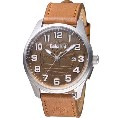 Timberland 荒野征途時尚休閒錶(TBL.15020JS/11)咖啡/44mm