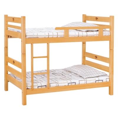 愛比家具 森林檜木3尺單欄雙層床(不含床墊)