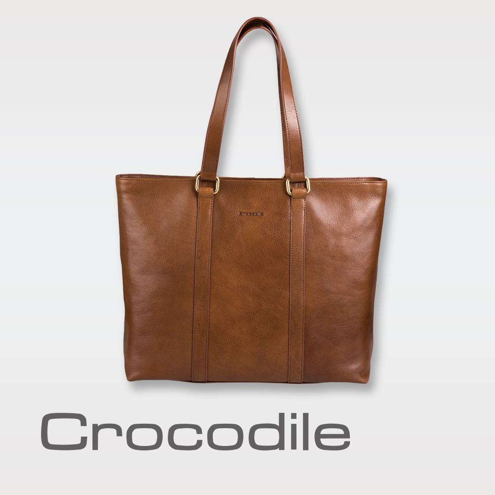 Crocodile Natural 義大利植物鞣原皮 托特包 0104-07706-02