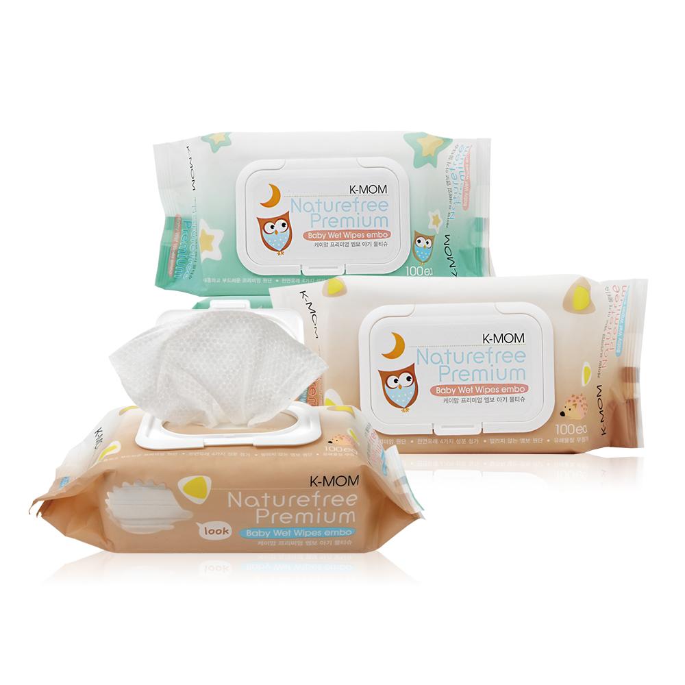 韓國MOTHER-K純淨自然幼兒濕紙巾(100抽/包)-掀蓋柔花款(包裝隨機出貨)