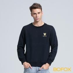 BOFOX 狐狸頭長袖T恤-藏青