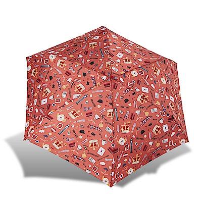 RAINSTORY倫敦風情(橙)抗UV輕細口紅傘