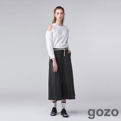 gozo當代線條主義者寬褲(二色)-動態show