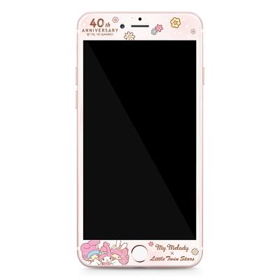 GARMMA 美樂蒂x雙子星 iPhone 6/6S+ 5.5吋鋼化玻璃膜-花花世界