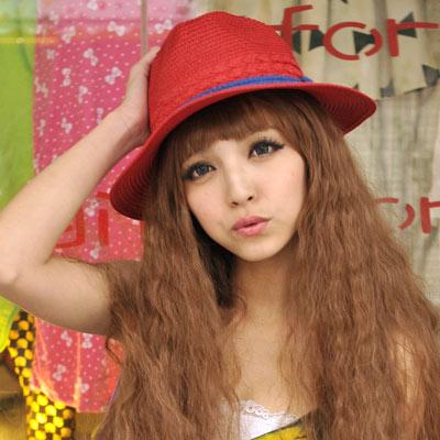【Aimee Toff】編織手感美結遮陽帽(紅)