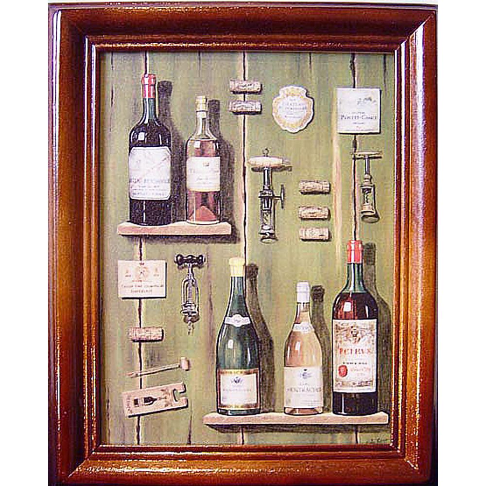 開運陶源【Wine2】原木鑰匙盒壁飾