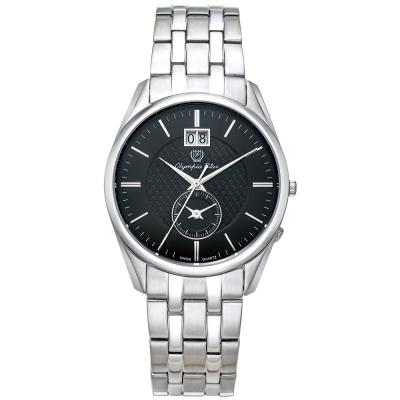 Olympia Star奧林比亞之星經典都會系列小秒針時尚腕錶-黑/36mm