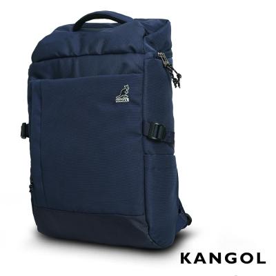KANGOL 英式學院風商務防盜機能15吋筆電後背包(藍)KG51157