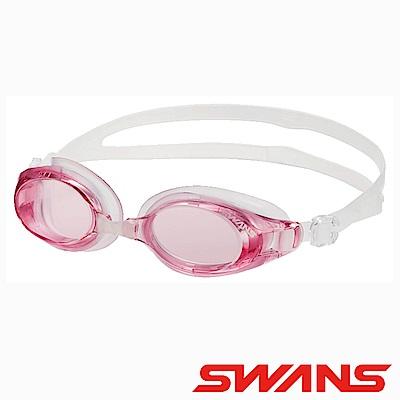 SWANS日本光學通用型泳鏡防霧抗UV SW-32粉紅紅