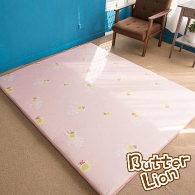 奶油獅-正版授權-台灣製造-葉語純棉紙纖三合一記憶床墊-單人3尺-粉紅
