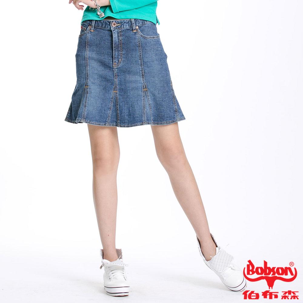 BOBSON 女款低腰三角衩片短裙