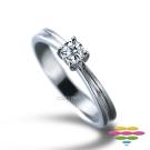 彩糖鑽工坊 PURE系列 19分鑽石戒指 四爪鑽戒