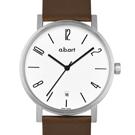 a.b.art O系列 當代德風極簡時尚腕錶-白/40.5mm